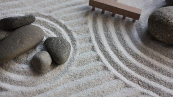 Mini Zen Garten mit Sand
