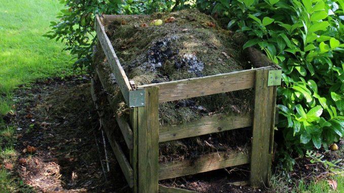 Kompost mit Fäkalien dank einem Komposttoilette Trennsystem
