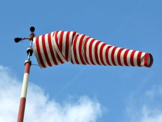 Windsack mit Mast